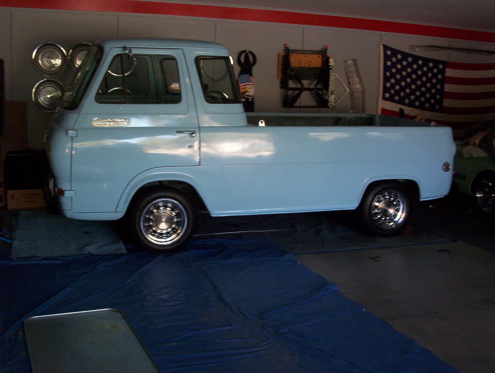 I am selling my 67 ford econoline pickup work continues on this rare classic only 2015 units were manufactured in 67 making this pickup unusual and